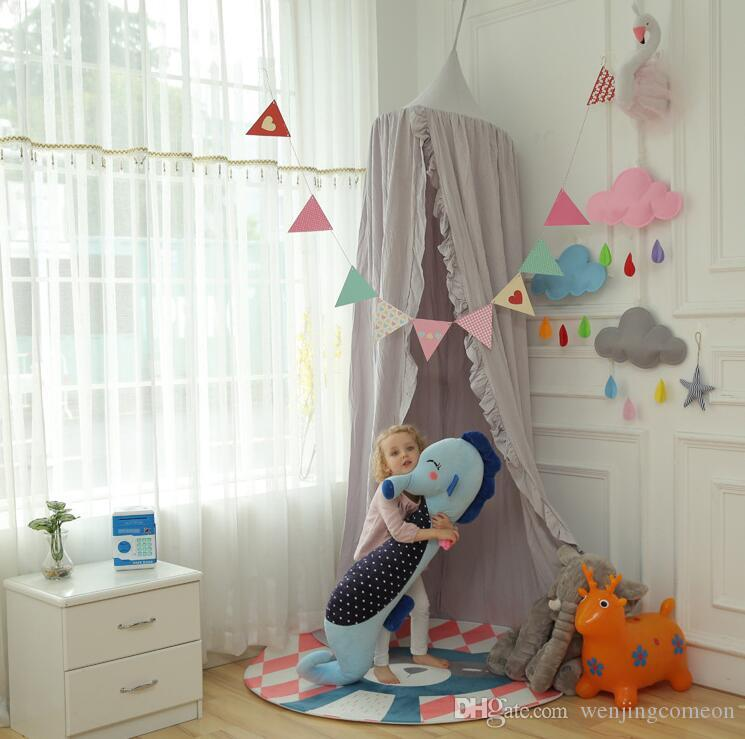 Children Canopy Tent Playhouse Kids Crib Netting Play Tent Baby Hanging Teepees Tipi Mosquito Net For Boy Girls Room Decoration