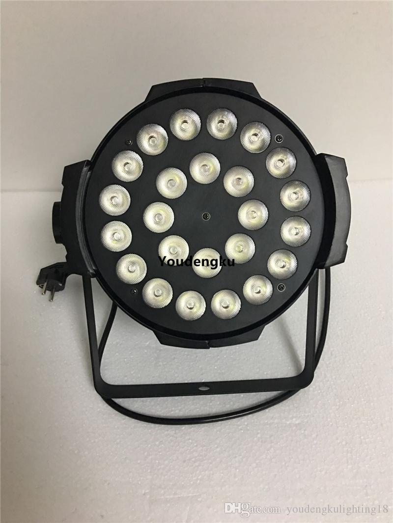 Estuche de vuelo de 6 piezas para led par light 24x18w rgbwa uv 6 en 1 par led rgbwa uv led par 64
