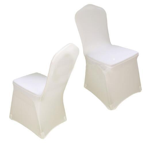 Universal White spandex Wedding Party chair covers White spandex lycra chair cover for Wedding Party Banquet