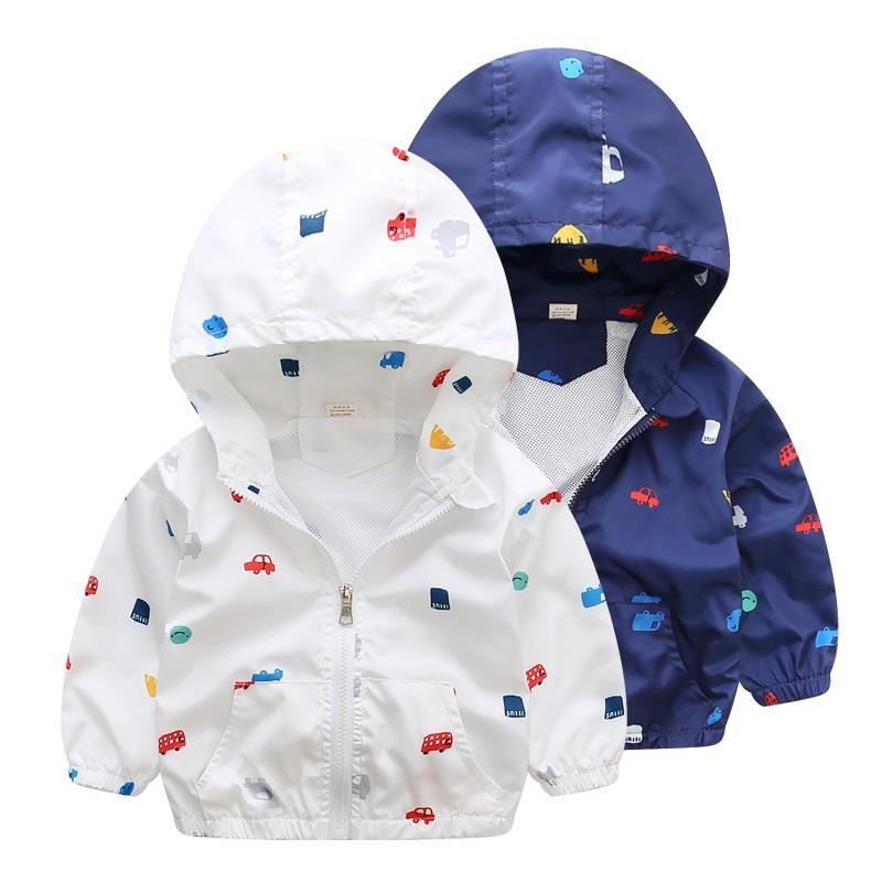 2017 nuevo verano otoño niños chaquetas casual con capucha niños prendas de abrigo / abrigos 1-7T azul y un poco con estilo chaquetas para niños CQ03