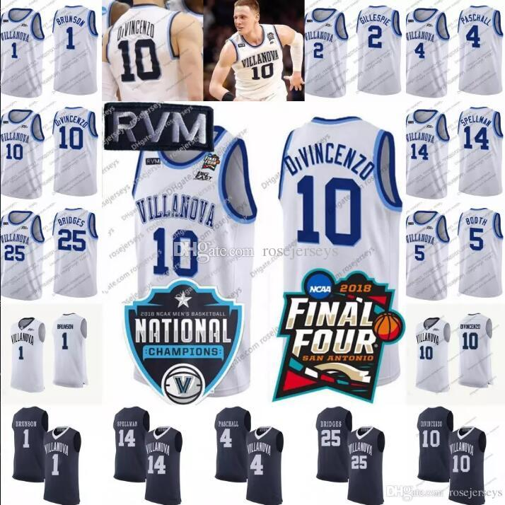 Villanova Wildcats  1 Kyle Lowry 14 Omari Spellman 24 Joe Cremo 42 Dylan  Painter White Navy Blue 2018 Final Four College Basketball Jersey UK 2019  From ... a020816f9