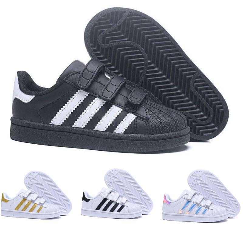2abf9b274d1 Compre Didas Superstar Niños Zapatillas De Skate Zapatos De Bebé Para Niños  Superstars Sneakers Originals Super Star Girls Boys Zapatos De Niños  Deportivos ...