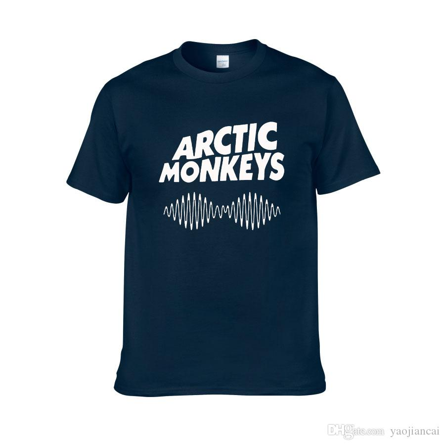 Arctic Monkeys erkek Tee Gömlek Indie Kaya Ve Rulo Kısa Sleve O-Boyun Gevşek Etekler Müzik Marka Yaz yeni Hip hop Erkekler T gömlek