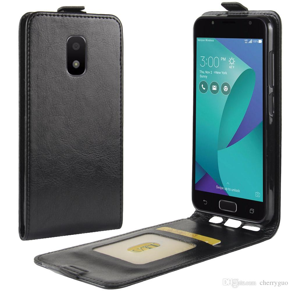 quality design 785c2 ecf18 Phone Case for Asus Zenfone V Live V500KL,TPU PU Leather Up and Down Case  Cover with Card Slot