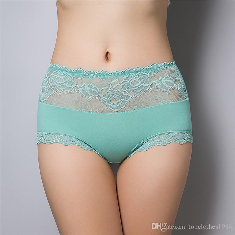 Mutandine sexy di lusso di alta qualità delle donne vita alta Plus Size Sexy slip in pizzo biancheria intima sexy lingerie 10 pz / pacco i 8810