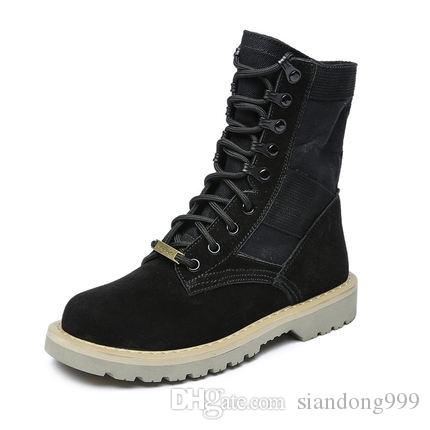 1a4c9530d24 HOT Branded Women Leather Platform Boot Designer Chunky Ankle Canvas Boots  Size 35 41 Boots Shoes Ankle Boots For Women From Siandong999