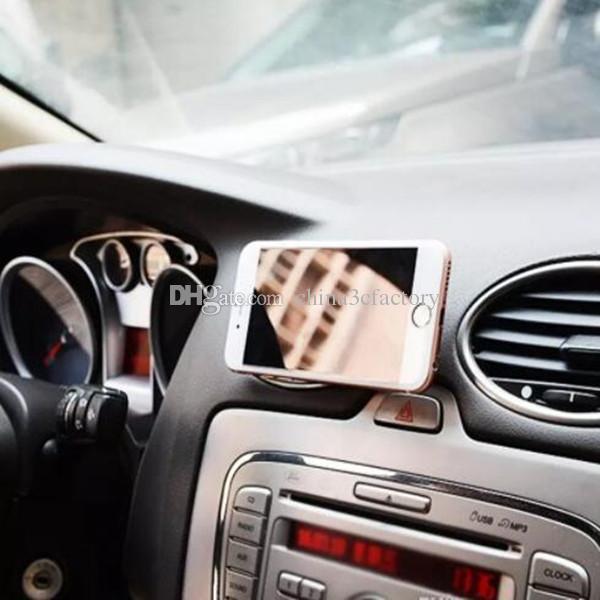 Support de téléphone magnétique mobile de voiture magnétique universel de voiture Mini de support de téléphone mains libres de tableau de bord de téléphone pour iPhone 7 Samsung