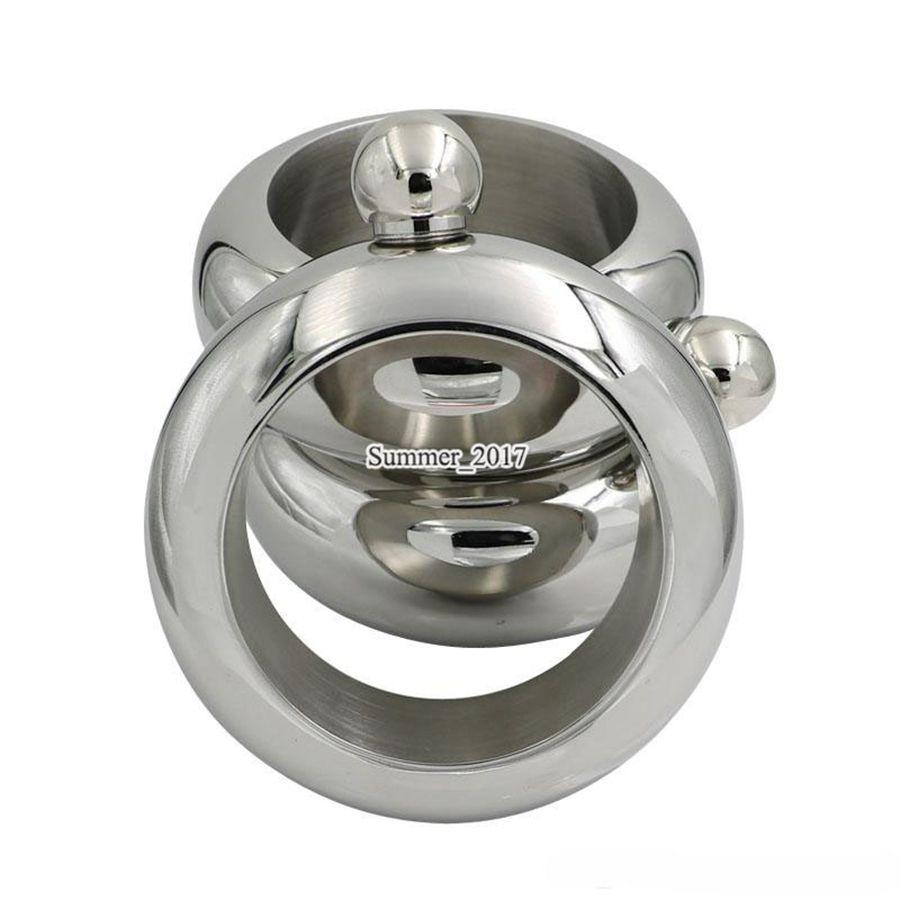 Bileklik Bilezik Hip Flask 3.5 OZ Gümüş Paslanmaz Çelik Viski Drinkware taşınabilir açık bilezik hip matara ücretsiz kargo