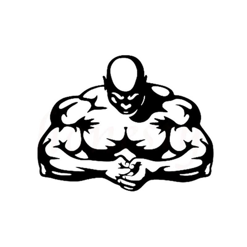 Bodybuilding Muscle Man Car Sticker Wall Home Glass Window Door