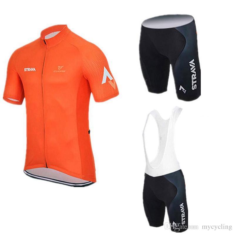 New Strava Mens Cycling Jersey Set Summer Breathable Road Bike Clothing  Short Sleeves MTB Bicycle Shirts 3D Bib  Shorts Sportswear C2608 Custom  Cycling ... a1f4fc40d