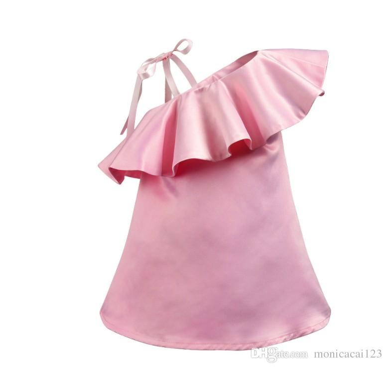5738e35b3f1 Acheter Vêtements Enfants Robe Filles Princesse Robe Rose Bretelles Jupe  Summer Frenulum Jupe Livraison Gratuite De  36.69 Du Monicacai123
