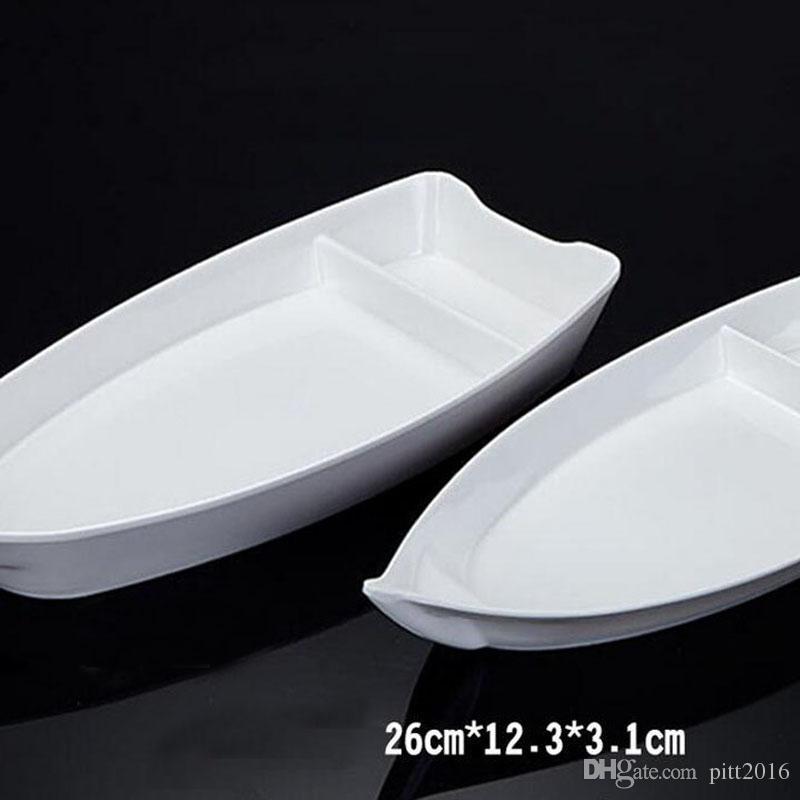 Online Cheap A5 Melamine Dinnerware Dinner Plate 26*12.3*3.1cm Boat ...