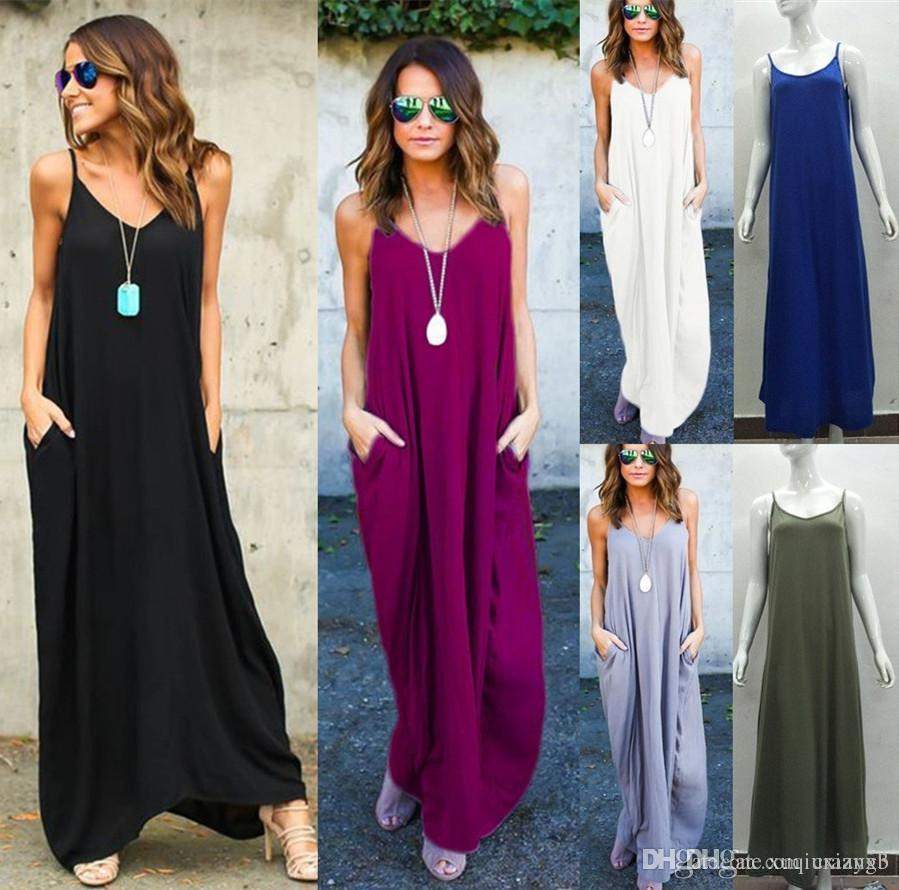 a77ede550da Plus Size Long Maxi Dresses With Pockets