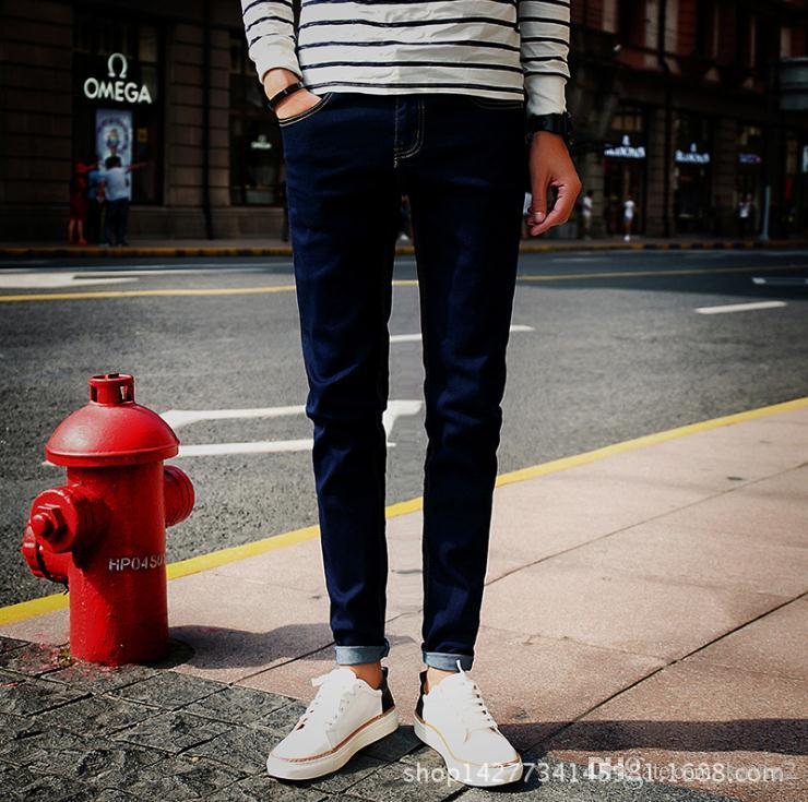 8eb887cb55a 2018 Top Quality 2018 Autumn Winter Casual Men S Jeans Fashion Pencil Pants  Youth Slim Fit Teenagers Man Stretch Foot Men S Trousers From Kavin2
