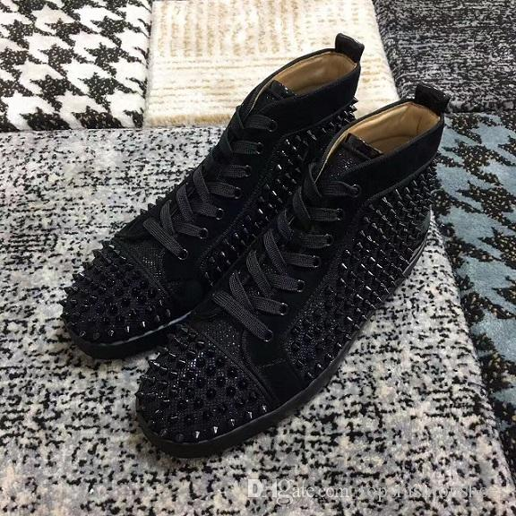 f6a9abb5ca05 with Box Famous Brand Men Red Bottom Sneaker Shoes Luxury Party ...
