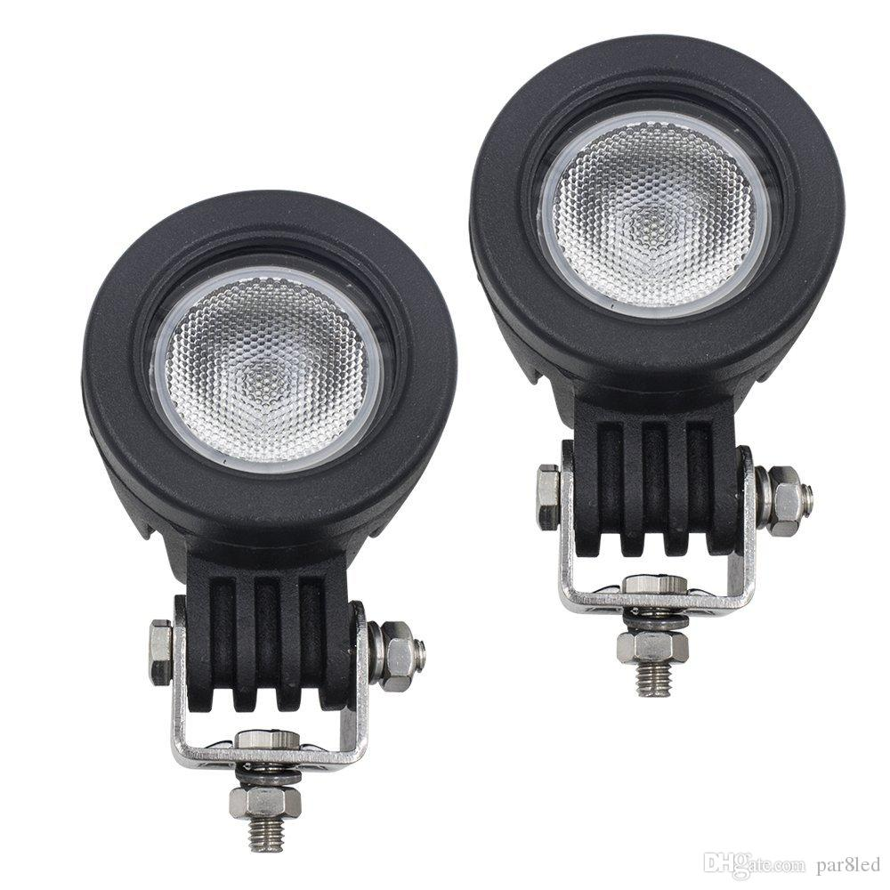 Led Flood Driving Lights,10W Mini Round Tail Cree Fog Lamp ...