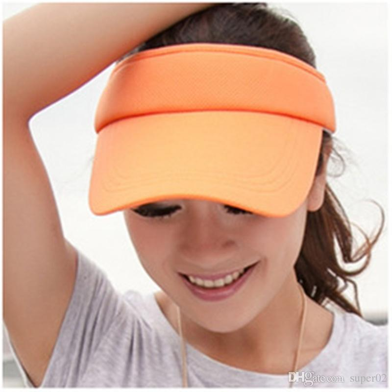 3b7dbdb833b 2018 New Hot Selling Tennis Caps Stylish Women Men Unisex Beach Sports Sun Visor  Hat Golf Tennis Adjustable Online with  1.5 Piece on Super02 s Store ...