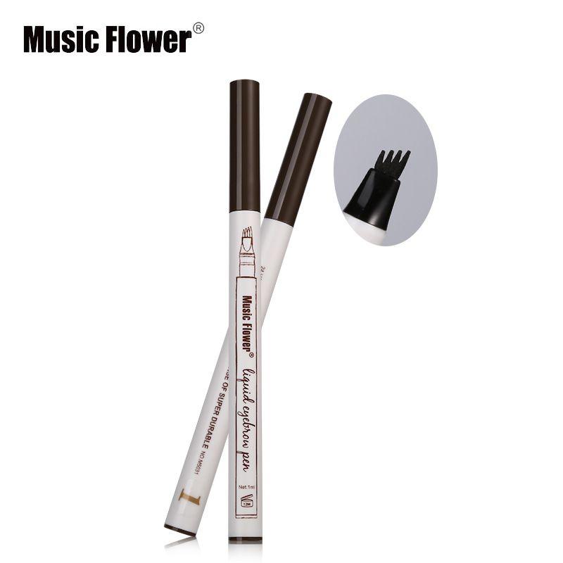 음악 꽃 액체 눈썹 펜 음악 꽃 눈썹 증강 인자 3 개의 색깔 4 머리 눈썹 증강 인자 방수 자유로운 DHL