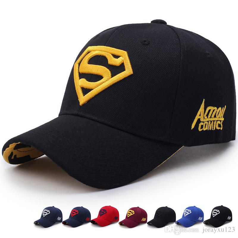 Vogue Sports Superman Embroidered Baseball Caps Chapeu Outdoor Golf Vintage Gorras  Planas Casquette Hip Hop Casual Floral Hats X016 Superman Caps Hip Hop ... b0ee3997b50