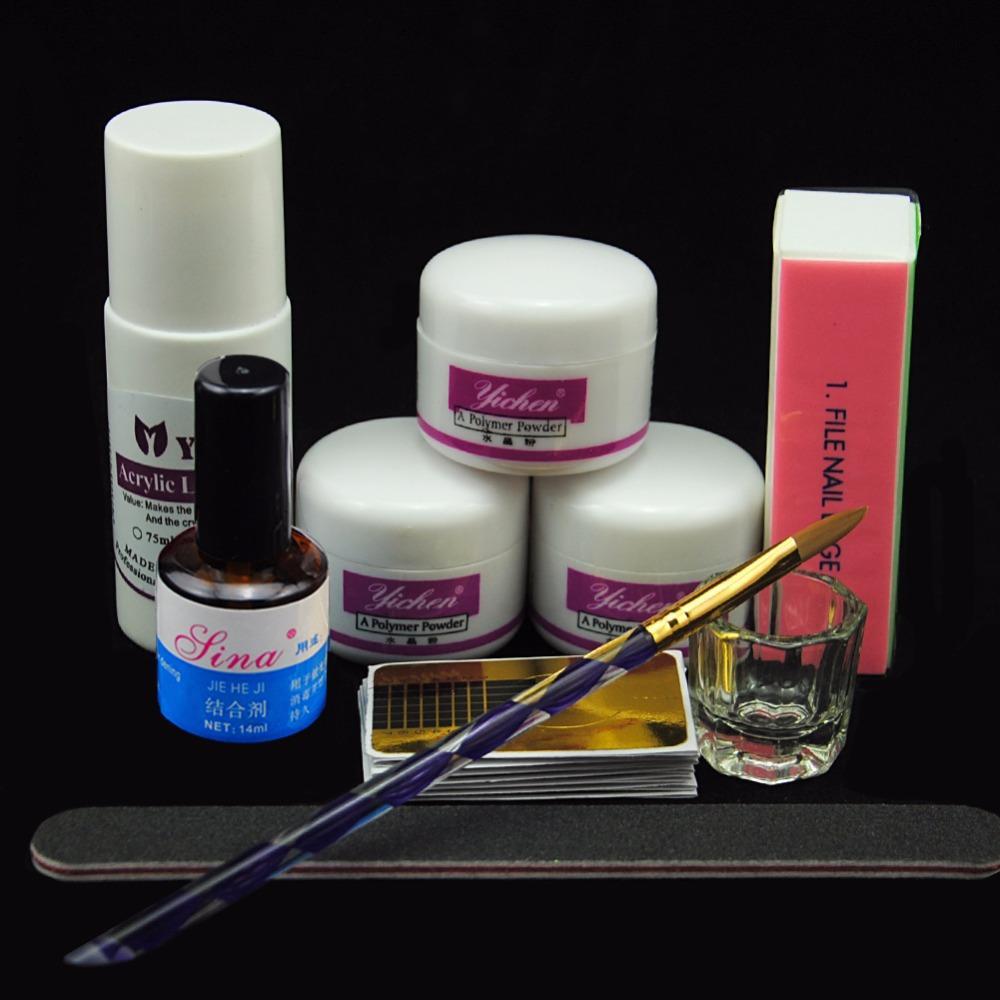 Acrylic Powder Manicure Nail Kit 75ml Acrylic Liquid Nail Kit French