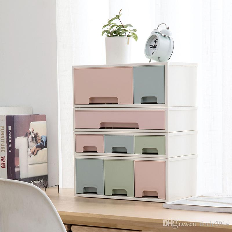 2018 Room Drawer Multi Layer Cosmetic Storage Box Desktop Skin Care Finishing Desk Plastic Cabinet From Doule2017 16 29 Dhgate Com
