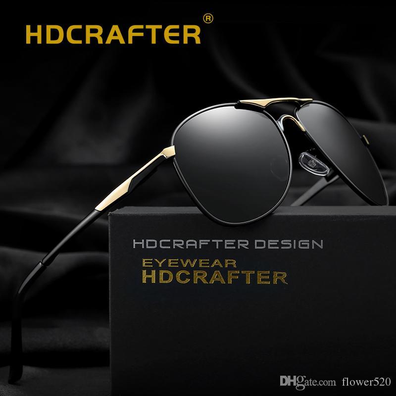 3aba2786d Compre Óculos De Sol Polarizados Homens UV400 Piloto De Design Da Marca  Óculos De Sol Masculino Condução Óculos De Sol Clássico Eyewear Gafas De Sol  Tons De ...