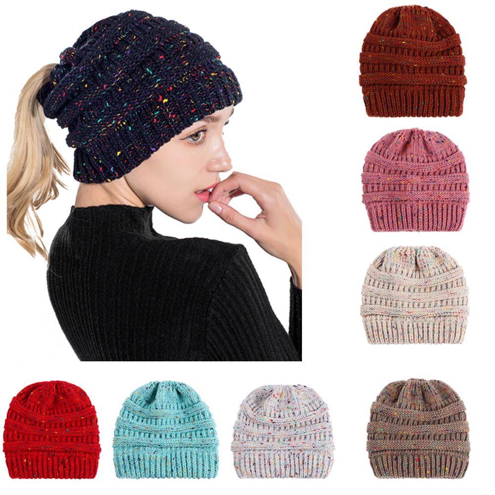 Children Baggy Warm Crochet Winter Wool Knit Ski Beanie Skull Slouchy Caps Hat Winter Wool Knit Hats Warm Knitted Baby Cap #ew Accessories Boys' Baby Clothing