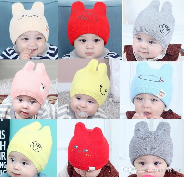 b53c0115740 2019 Baby Hats Beanie Fashion Beanies Outdoor Hat Winter Spring Autumn Newborn  Beanie Children Wool Knitted Caps Warm Beanie 0 24 Months From Yangminglin