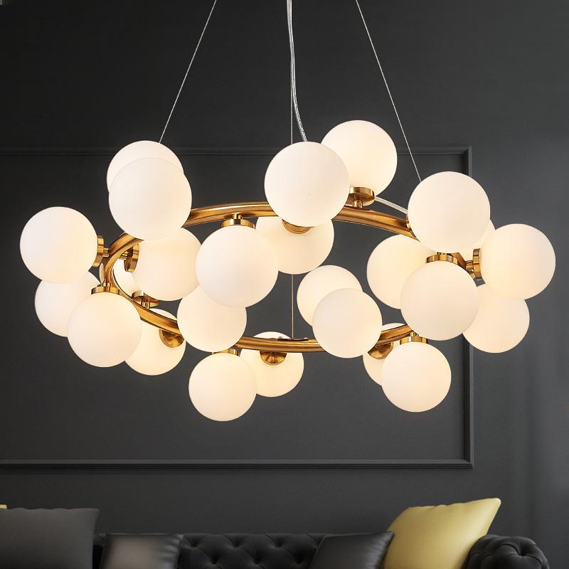 Vintage Loft Industrial chandelier black Gold Bar Stair hanging light Dining Glass ball Retro Lindsey glass LOFT gold chandelier