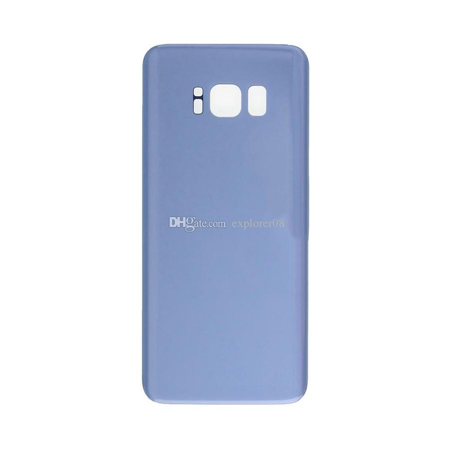 Back Glass Cover for Samsung Galaxy S8 G950 VS S8 Plus + G955 Rear Battery Cover Door Housing Replacement