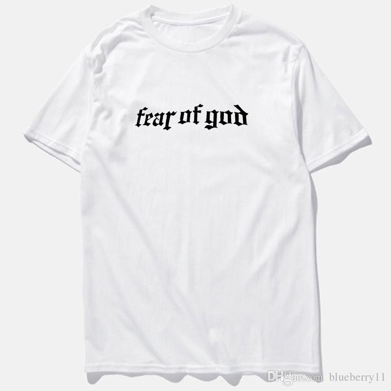 Summer Fear of God Hi-street T-shirt Black Gray Short Sleeve Men Hip Hop T shirts Plus Size M-3XL