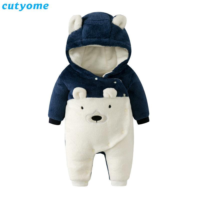 7816744a1 Winter Bear Baby Boys Rompers Overalls Bodysuit Jumpsuit Newborn ...