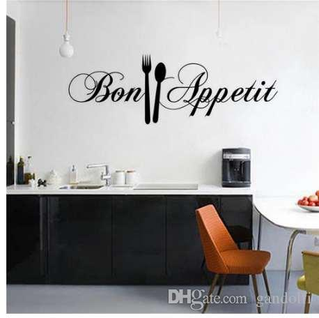 diy knife fork kitchen wall stickers home decoration accessories