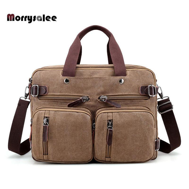 12b71aeac55e 2019 Fashion Multi-functional Men s Canvas Bag Travel Bag Shoulder ...