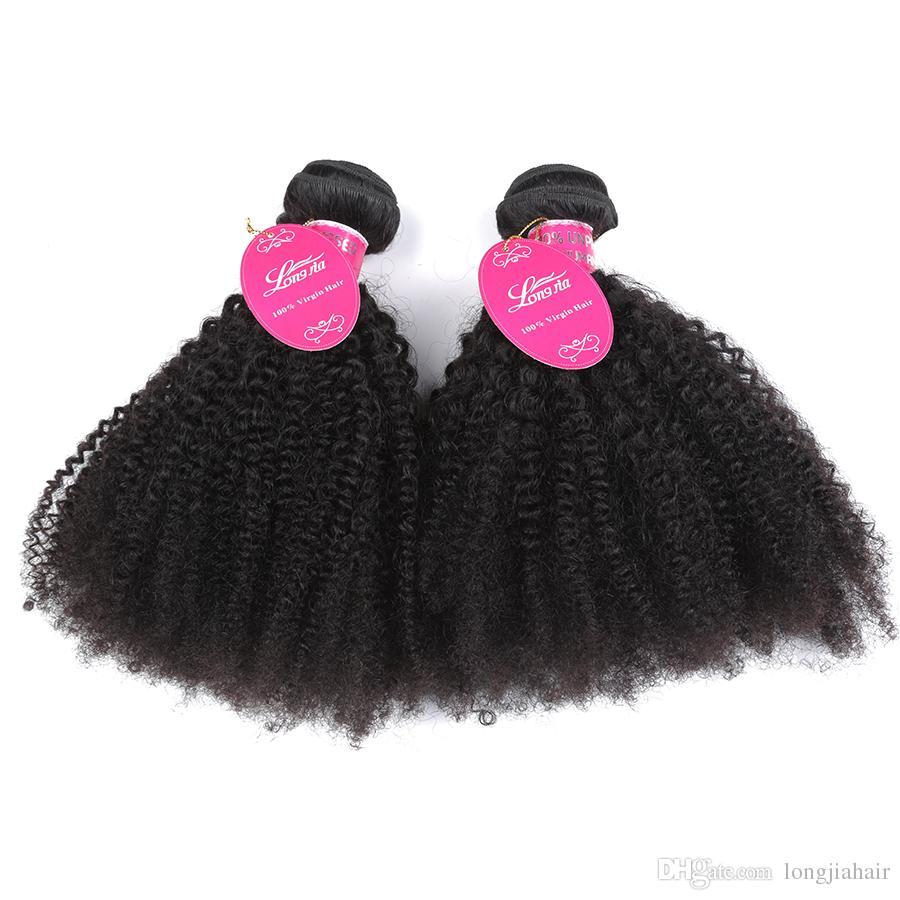 Brazialin Sınıf 8a Vizon Afro Kinky Kıvırcık Bakire Saç İnsan saç demetleri Uzantıları Örgü İnsan Saç Demetleri afro kinky kıvırcık Çift Atkı ga