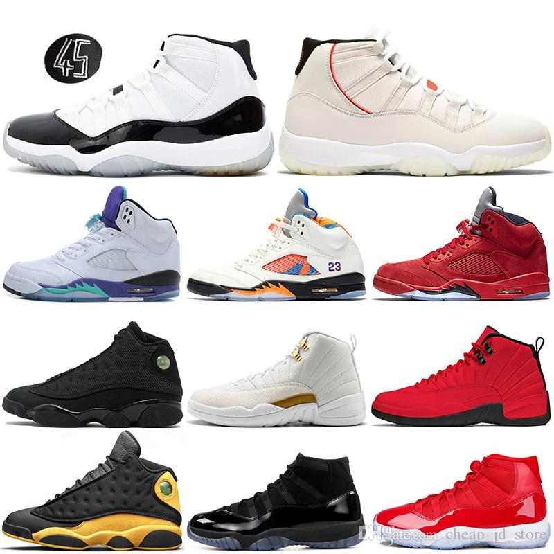brand new a549f eb40c Acquista Nuovo 5 5s International Flight Basketball Scarpe Bulls 12s  Platinum Tint Concord 11s Black Cat 13s Fresh Prince Mens Sneakers Sport 7  13 A  78.75 ...