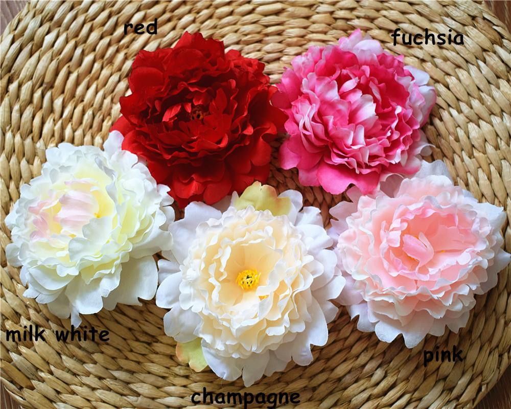 2018 Peony Heads Silk Peony Flowers 15cm Peonies Artificial Flowers