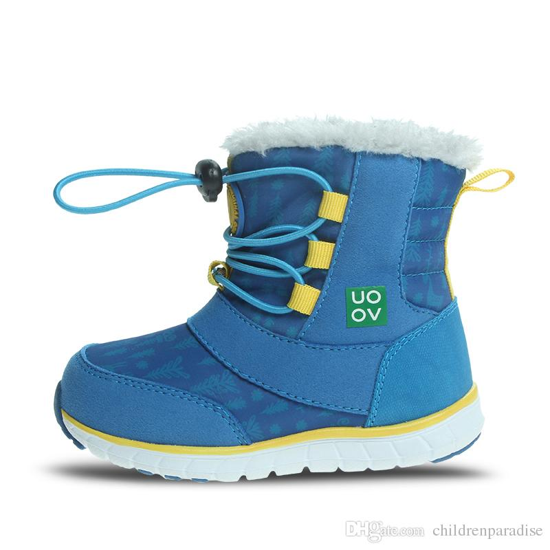 5b5fb20106e3 2018 Snow Boots Kids Winter Boots Boys Waterproof Shoes Fashion Warm Baby  Boots For Boys Toddler Footwear Size 23  30  Rainboots Girls Girl Boots  Size 1 ...