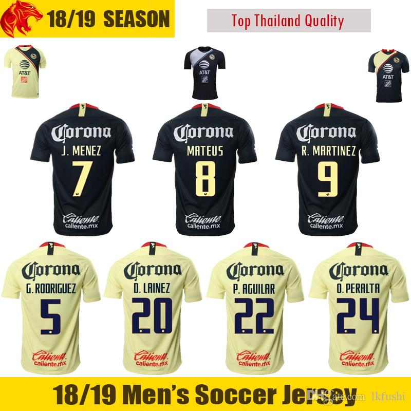 18 19 mexico club america soccer jersey o.peralta r.martinez 2018 2019 mateus club america p.aguilar