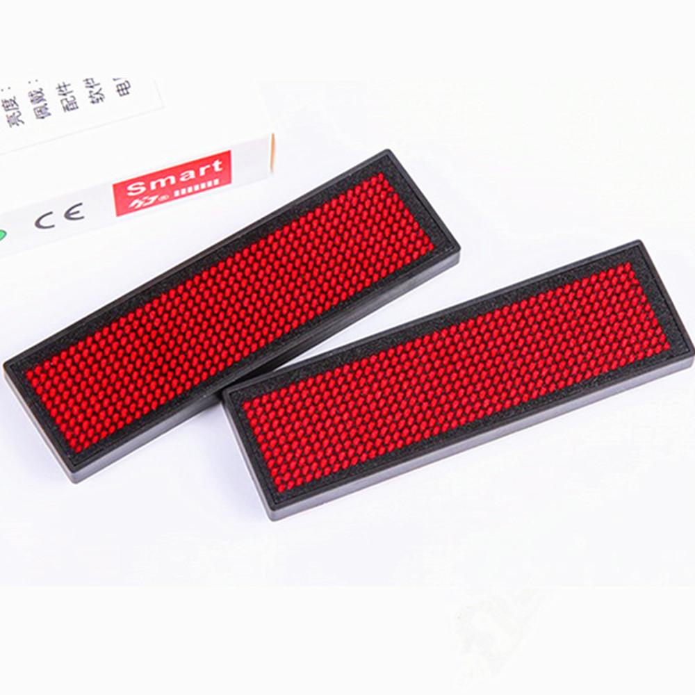 2018 NEW Name Tag LED Name Badge with Magnet and Pin - Red Scrolling  Message Sign 44x11 Dots Rechargeable Led Tag For Event