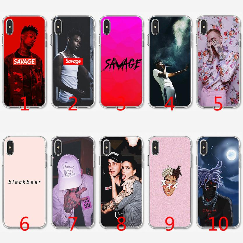 low priced fe7eb e4d97 21 Savage XXXTENTACION Soft Silicone TPU Case for iPhone X XS Max XR 8 7  Plus 6 6s Plus 5 5s SE Cover