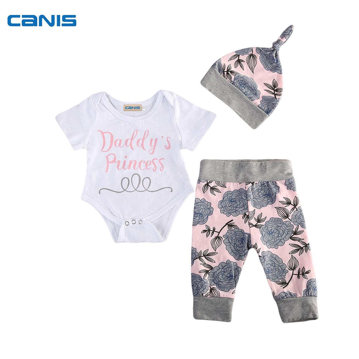 Lovely Toddler Infant Baby Boy Girl Rompers Outfits Daddys Princess ...