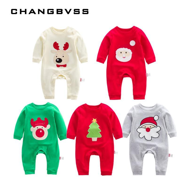 511327b03 2019 Christmas Embroidery Santa Clothing 100% Cotton Newborns Baby ...