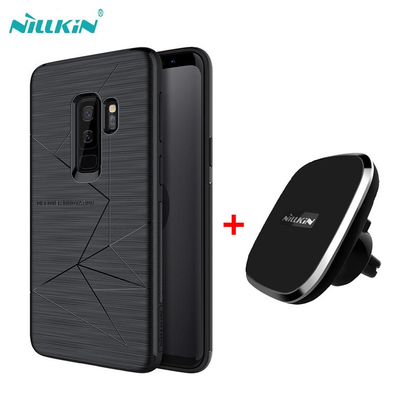 super popular 88905 f90f7 For samsung galaxy s9 s9 plus case NILLKIN qi wireless charger pad Magnetic  wireless charger receiver cover for galaxy s8 s8 S9