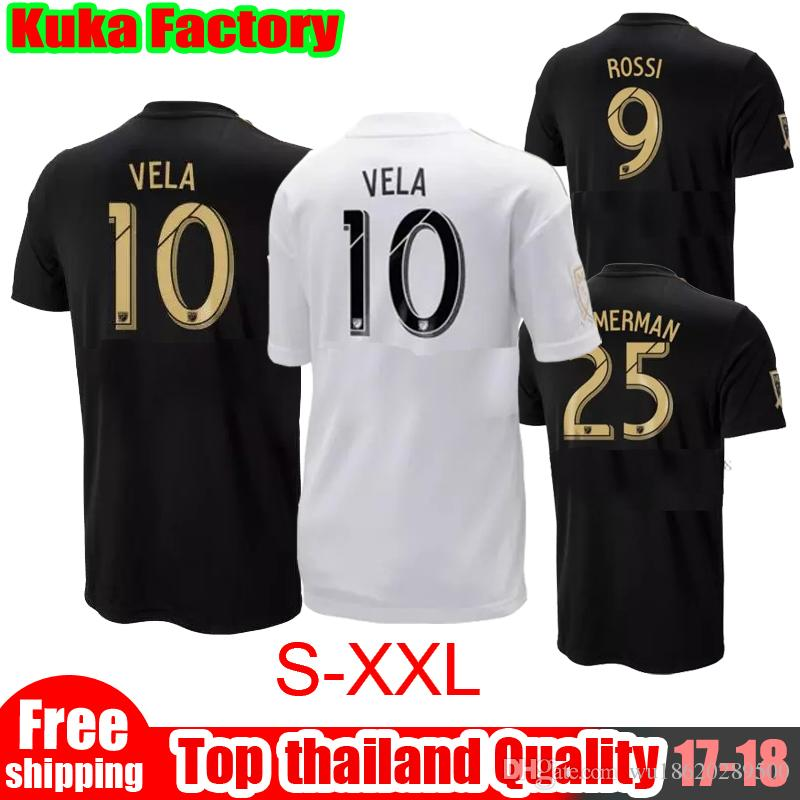 2019 Thai Quality 2018 2019 LAFC Soccer Jersey 18 19 HOME Black Away White  Carlos Vela GABER ROSSI Football Jerseys Shirt From Wu18620289500 84909521b