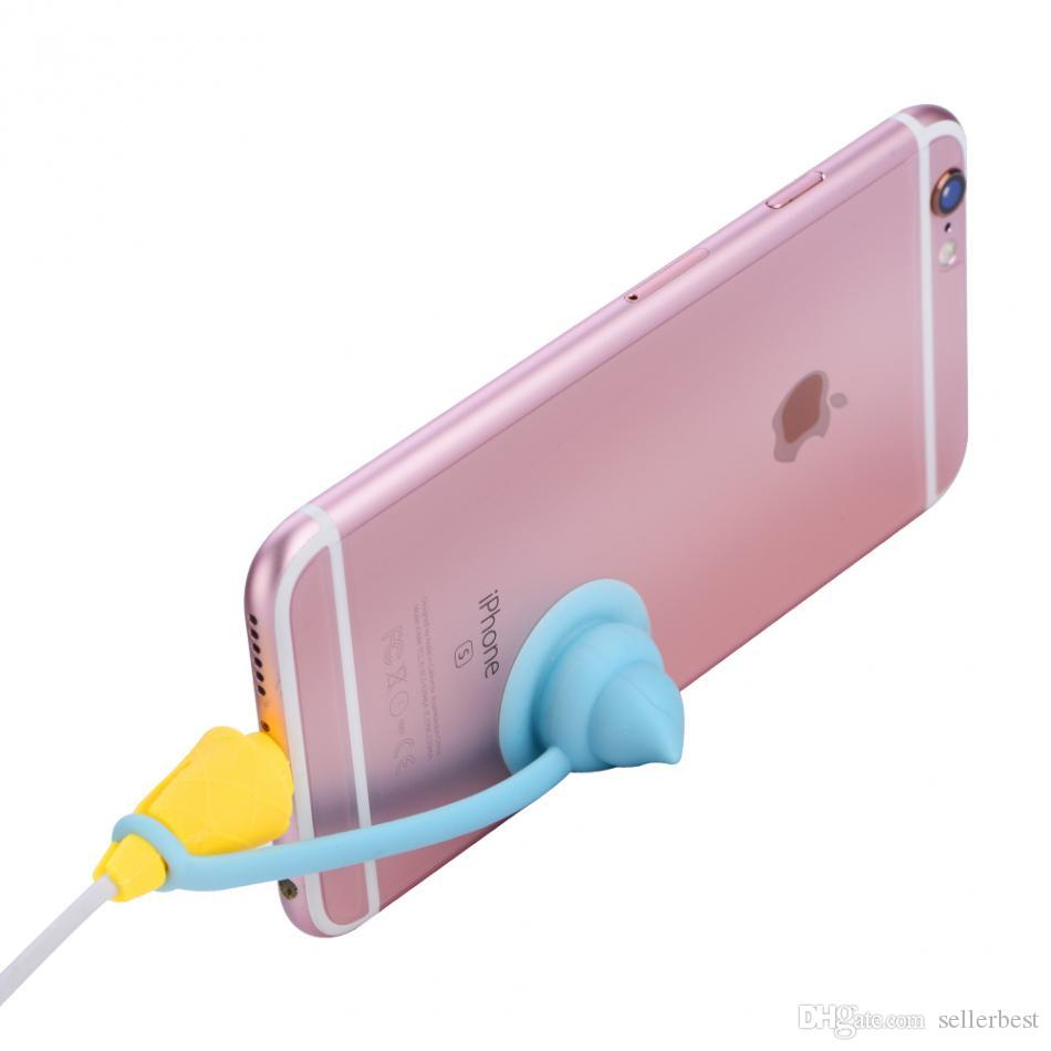 Ice Cream Shape Cable Protector Wire Cord Saver Protector Cover For iPhone 5 5S 6 7 Plus Charging Cable Earphone Universal