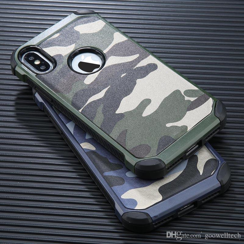 2840865630 Cool Camouflage Phone Case For IPhone X 6 6s 7 Plus Army Camo Phone Cases  Shockproof Armor Back Cover For IPhone 8 5 5s SE Mobile Phone Cases Cell  Phone ...