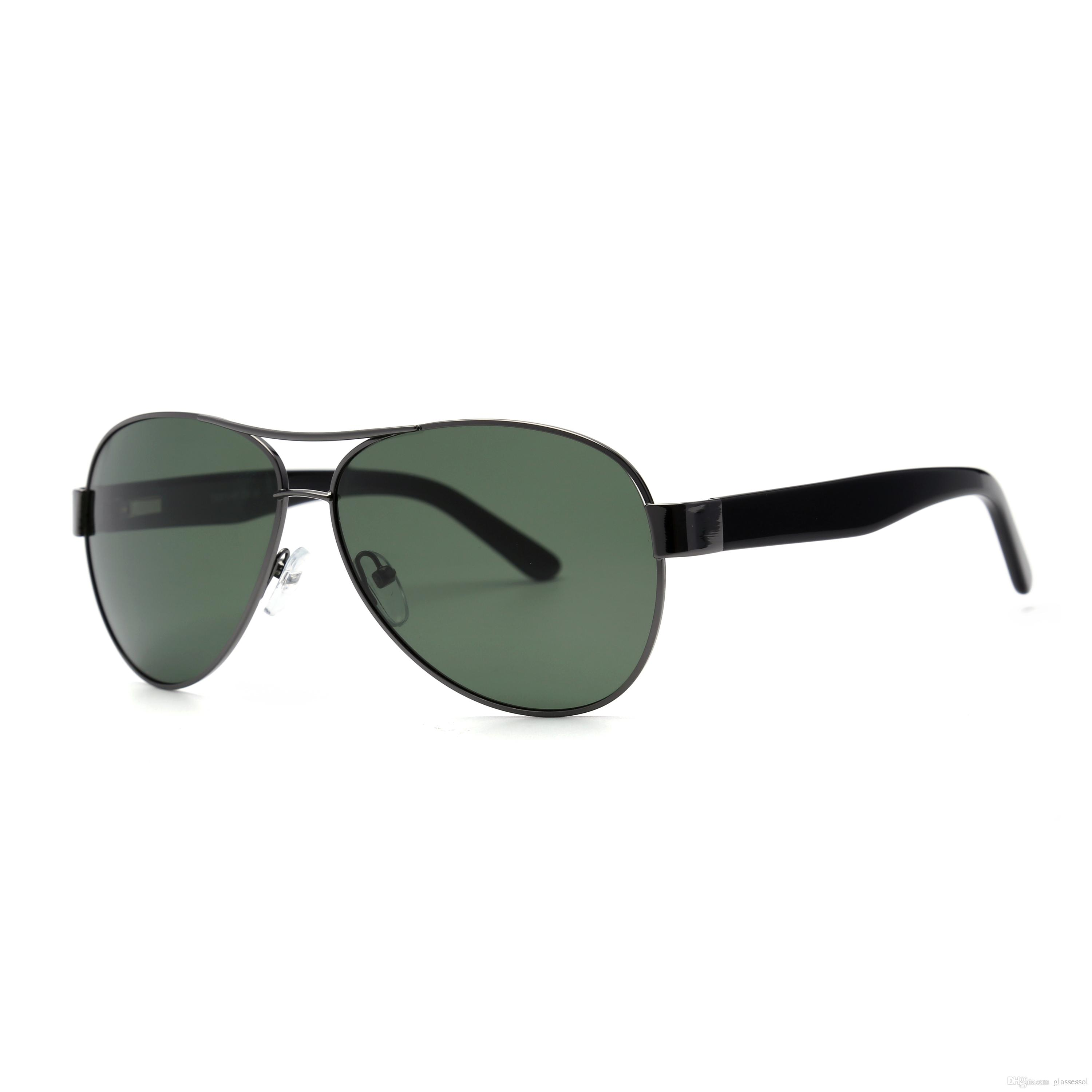 82bf8f5d3 High Quality Polarized Lens Pilot Fashion Sunglasses For Men And ...