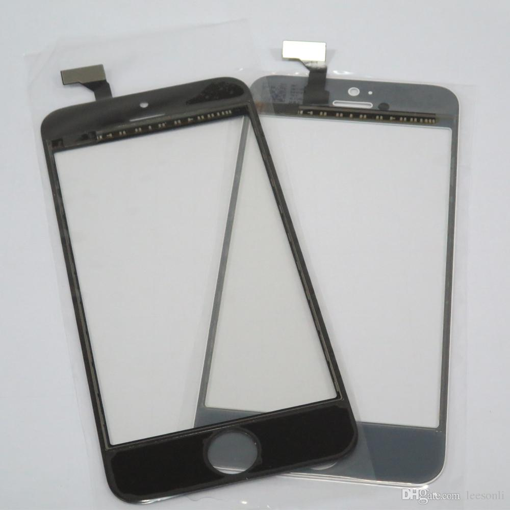 Jiutu Tested Touch Screen Digitizer Outer Panel Front Glass with Flex Cable For iPhone 5 5C 5S