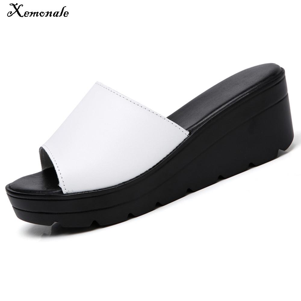 12d3a79486c3 Xemonale summer slippers women flat sandals shoes women slides jpg  1000x1000 White slippers women